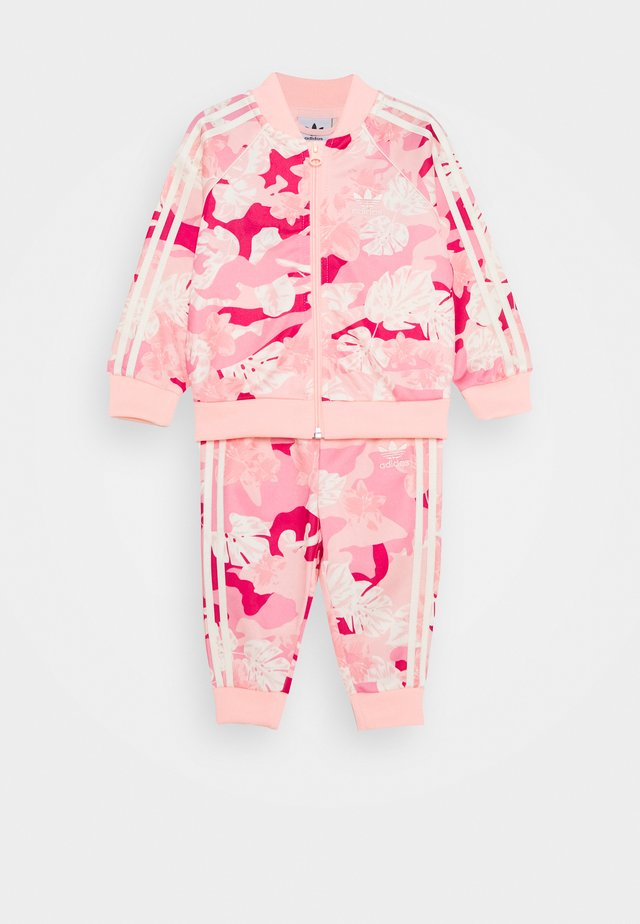 SET - Tracksuit - white/pink