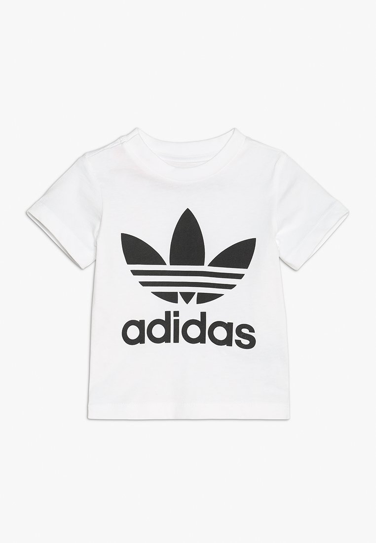 adidas Originals - TREFOIL TEE - Print T-shirt - white/black