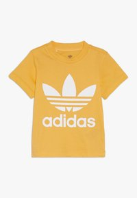 adidas Originals - TREFOIL TEE - T-shirt con stampa - real gold/white - 0