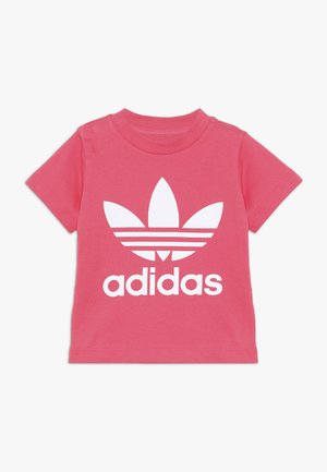 TREFOIL TEE - T-shirts med print - real pink/white