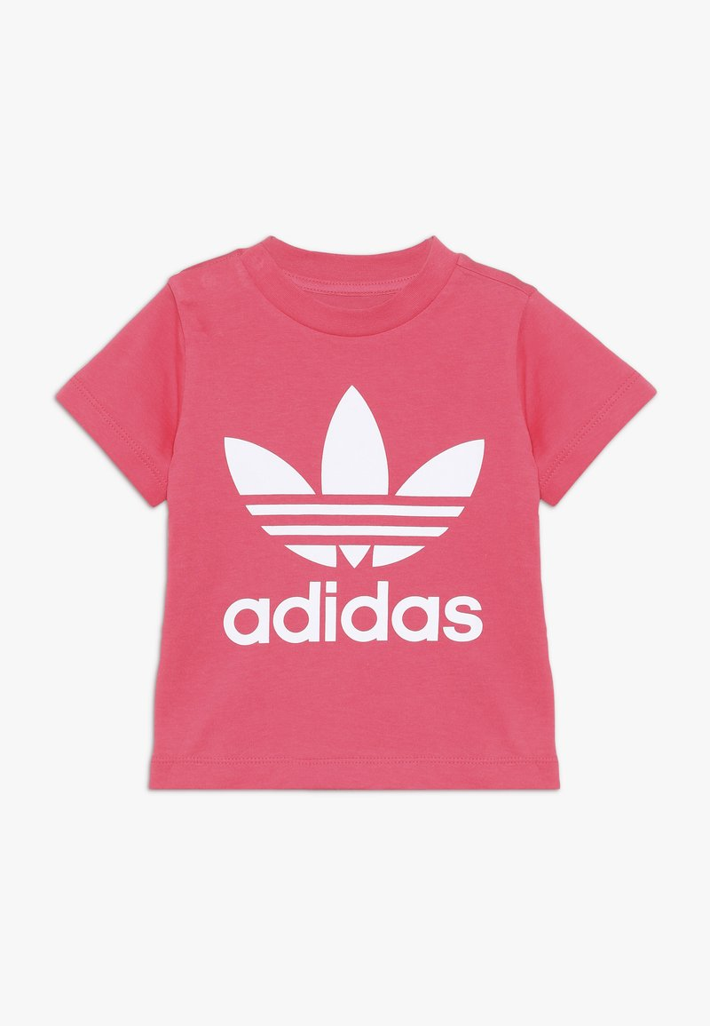 adidas Originals - TREFOIL TEE - T-Shirt print - real pink/white