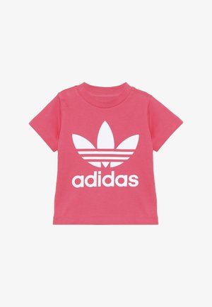 TREFOIL TEE - Camiseta estampada - real pink/white