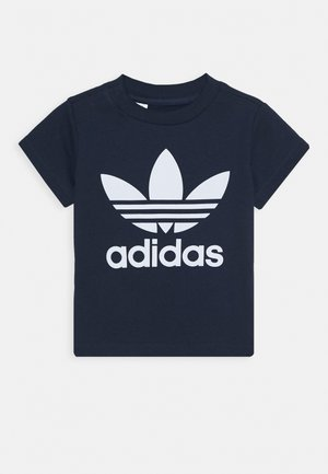TREFOIL TEE - T-shirt con stampa - conavy/white