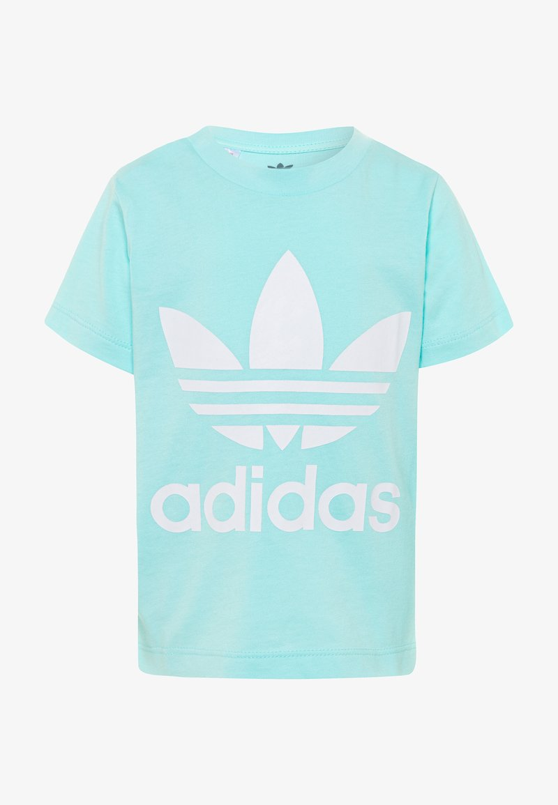 adidas Originals - TREFOIL TEE - Camiseta estampada - clear aqua/white