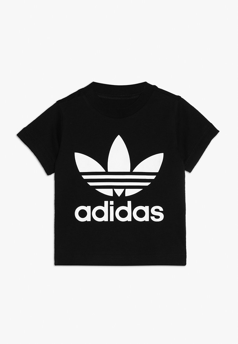 adidas Originals - TREFOIL TEE - T-shirts med print - black/white