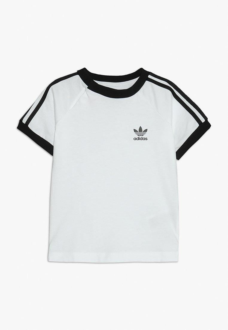 adidas Originals - STRIPES TEE - Camiseta estampada - white/black
