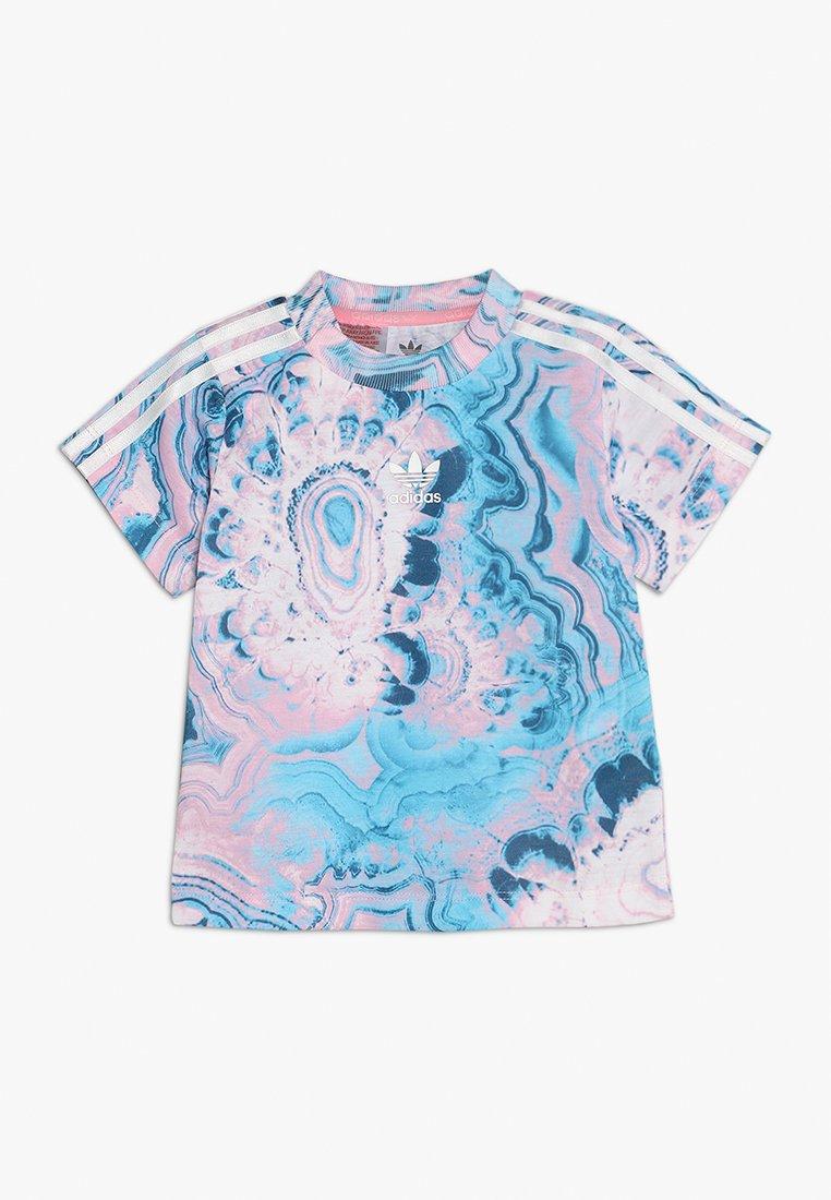adidas Originals - MARBLE TEE - Print T-shirt - multco/white