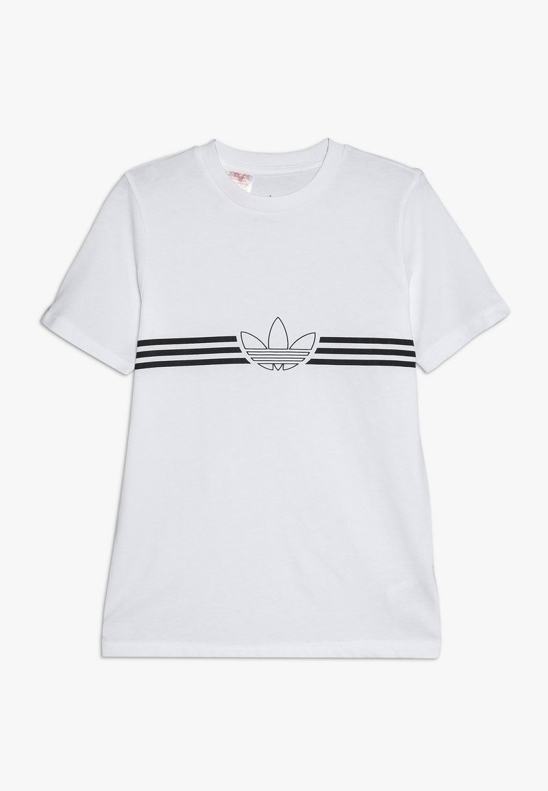 adidas Originals - OUTLINE TEE - Triko s potiskem - white/black
