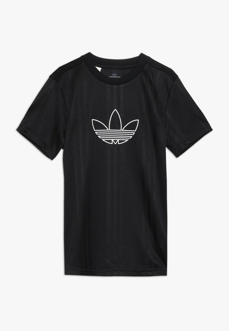 adidas Originals - OUTLINE  - Print T-shirt - black/white