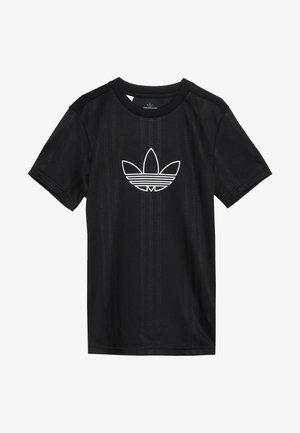 OUTLINE  - T-shirt med print - black/white