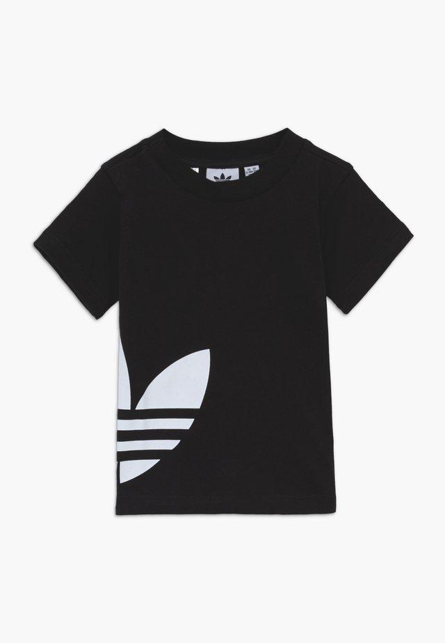 BIG TREFOIL TEE - T-shirt med print - black/white