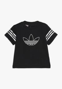 adidas Originals - OUTLINE TEE - T-shirt con stampa - black - 0
