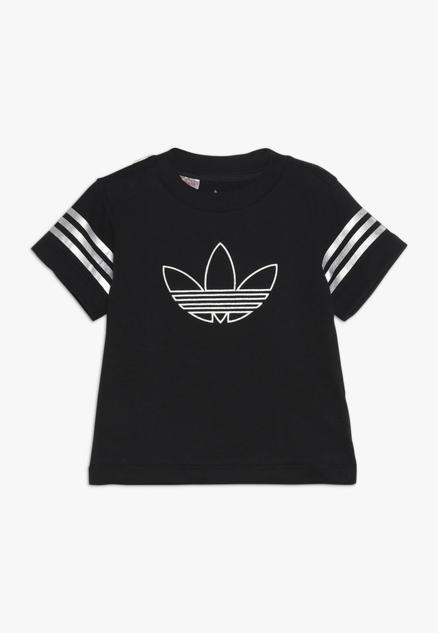 OUTLINE TEE - Camiseta estampada - black