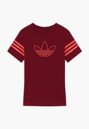 OUTLINE - T-shirt imprimé - dark red