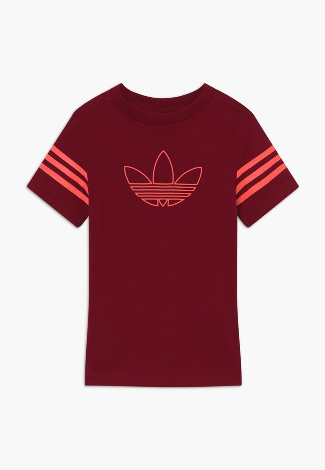 OUTLINE - Camiseta estampada - dark red