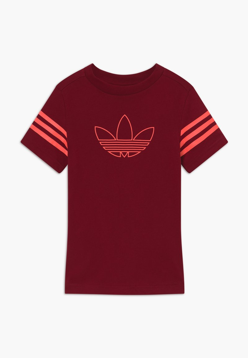 adidas Originals - OUTLINE - Print T-shirt - dark red