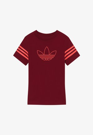 OUTLINE - Print T-shirt - dark red