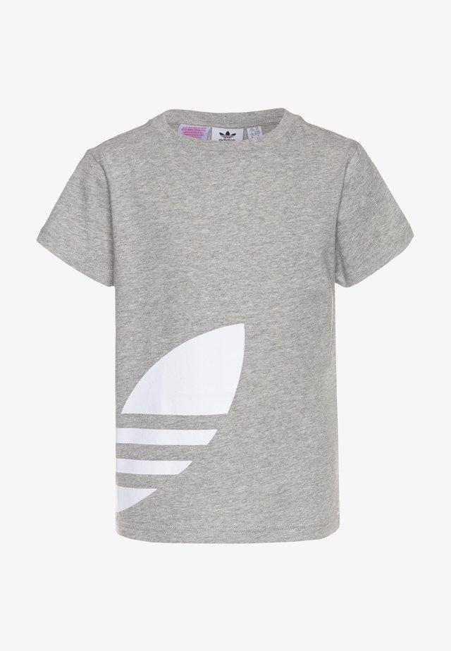 BIG TREFOIL - Camiseta estampada - medium grey heather/white