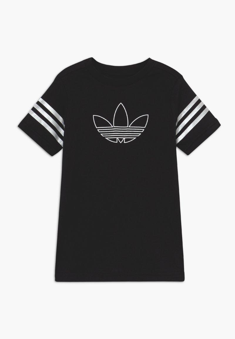 adidas Originals - OUTLINE TEE - Print T-shirt - black/white