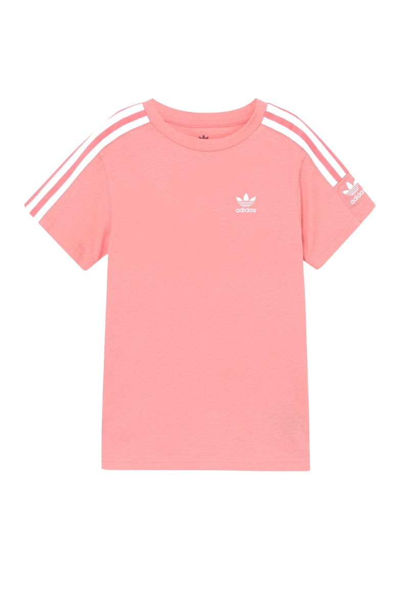 adidas Originals - NEW ICON  - T-shirt med print - pink/white