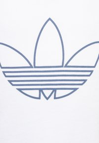 adidas Originals - OUTLINE TEE - Print T-shirt - white/techink/silver metallic - 2