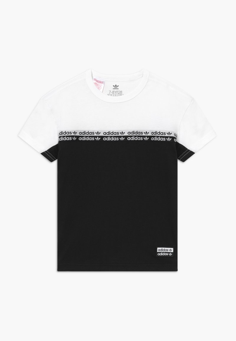 adidas Originals - T-shirt print - black/white