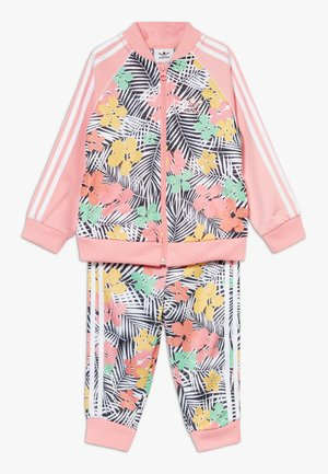 SET - Zip-up hoodie - glow pink/multicolor