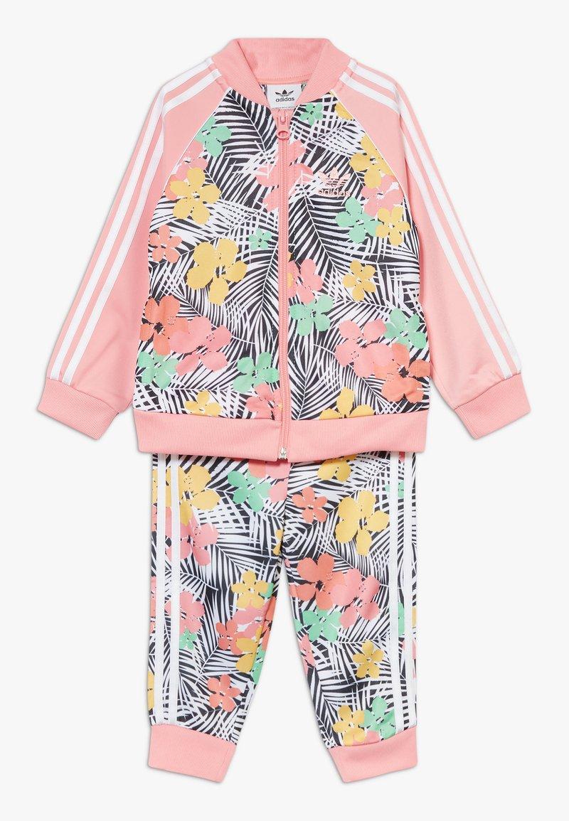 adidas Originals - SET - veste en sweat zippée - glow pink/multicolor