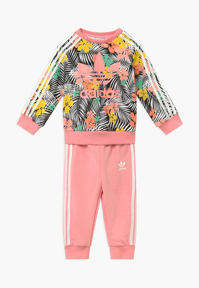 adidas Originals - CREW SET - Tracksuit - black/multi-coloured