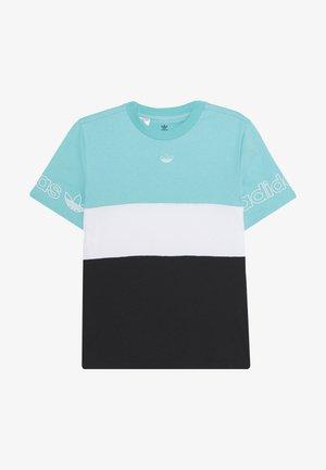 PANEL TEE - Camiseta estampada - turquoise/white