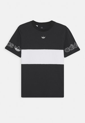 PANEL TEE - T-shirt con stampa - black