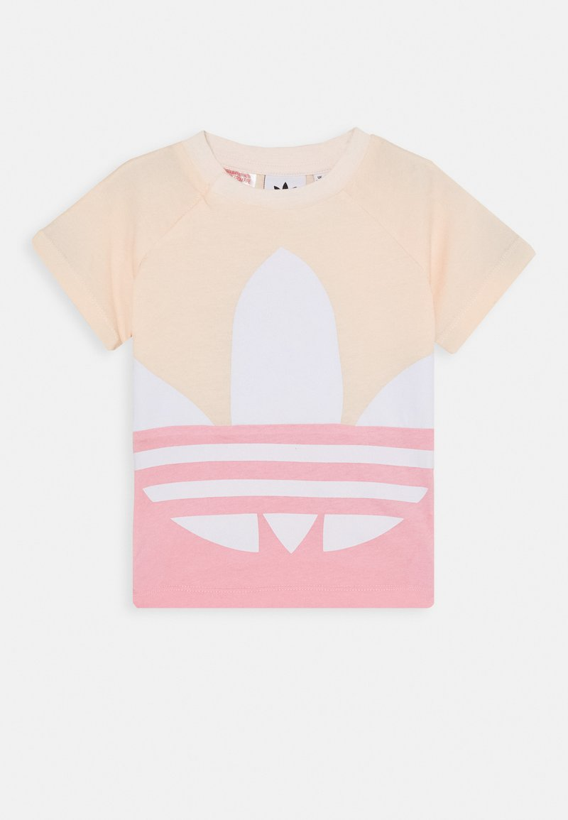 adidas Originals - BIG TREFOIL TEE  - T-shirt print - pink/white