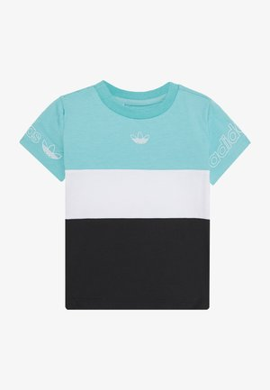 PANEL TEE - T-shirts med print - turquoise
