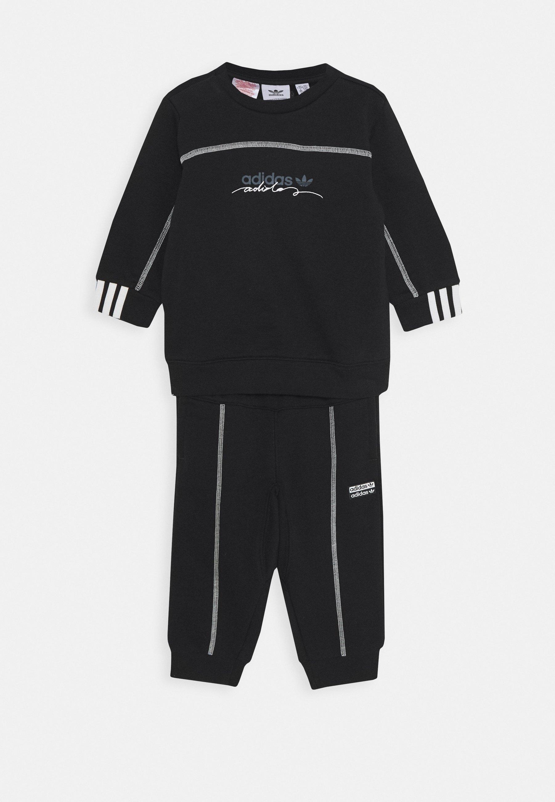 adidas Originals CREW SET Sweatshirt black Zalando.no
