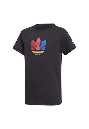 ADICOLOR 3D TREFOIL T-SHIRT - Print T-shirt - black