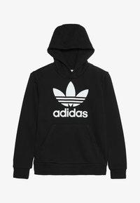 adidas Originals - TREFOIL HOODIE - Kapuzenpullover - black/white - 3