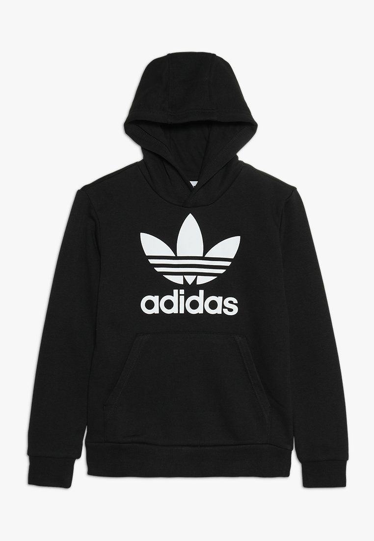 adidas Originals - TREFOIL HOODIE - Kapuzenpullover - black/white
