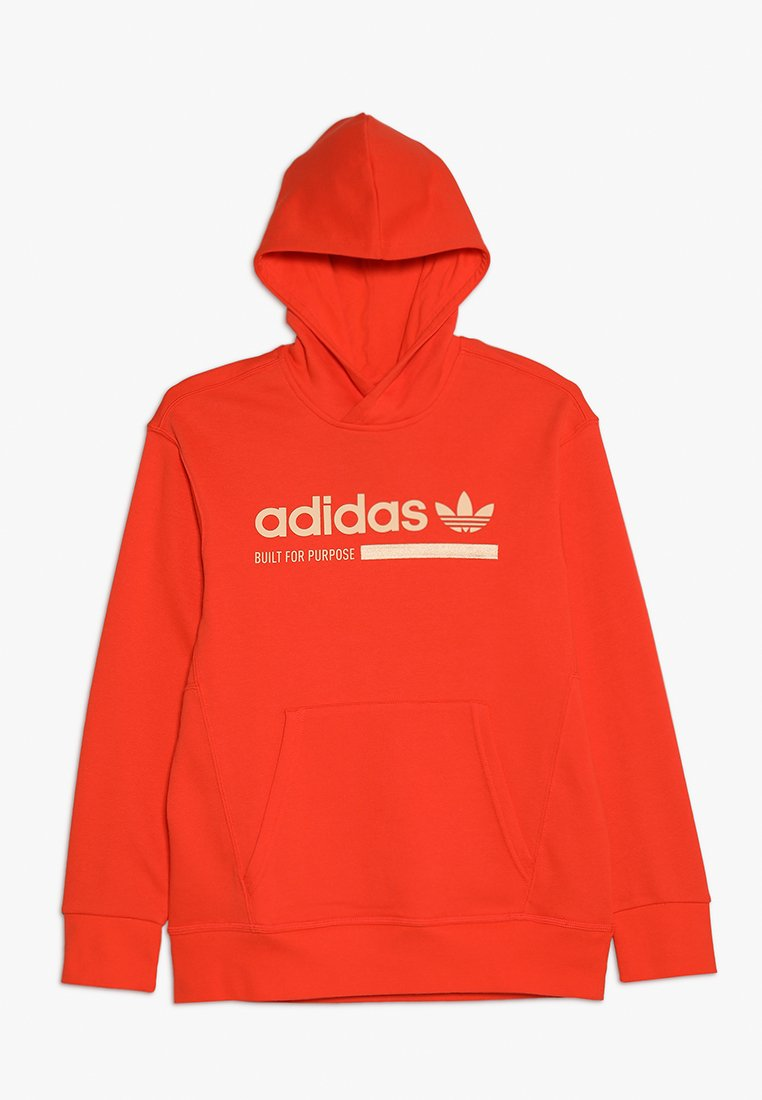adidas Originals - KAVAL HOODIE - Luvtröja - semi solar red/glow orange