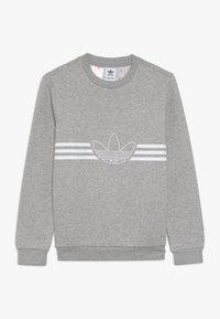 adidas Originals - OUTLINE CREW - Mikina - medium grey heather/white - 0