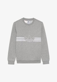 adidas Originals - OUTLINE CREW - Mikina - medium grey heather/white - 2