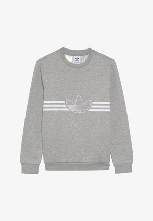 OUTLINE CREW - Mikina - medium grey heather/white