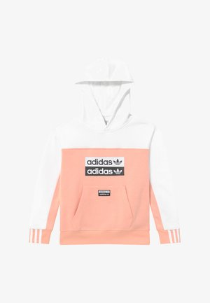 HOODIE - Mikina s kapucí - pink/white