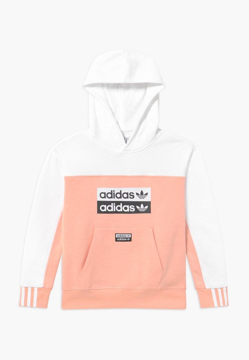 adidas Originals - HOODIE - Hoodie - pink/white