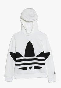 adidas Originals - TREFOIL HOOD - Hoodie - white/black - 0