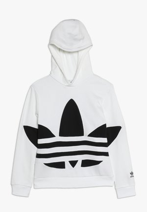 TREFOIL HOOD - Sweat à capuche - white/black
