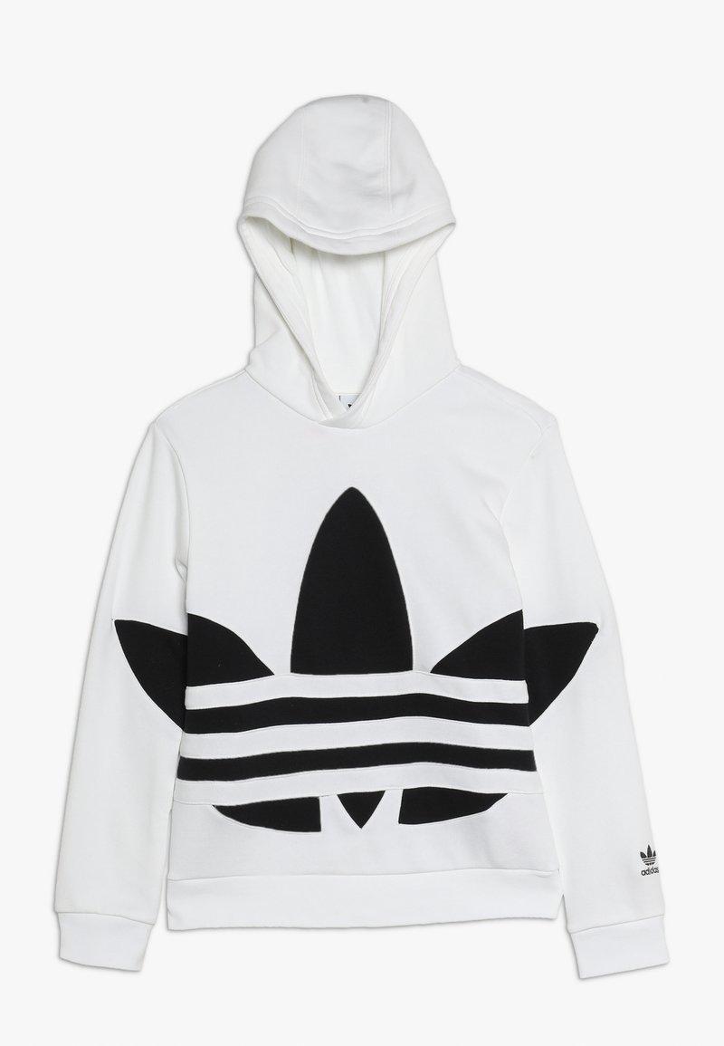 adidas Originals - TREFOIL HOOD - Hoodie - white/black
