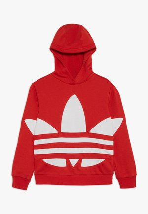 TREFOIL HOOD - Bluza z kapturem - red/white