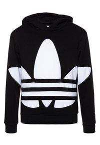 adidas Originals - TREFOIL HOOD - Hoodie - black/white - 0