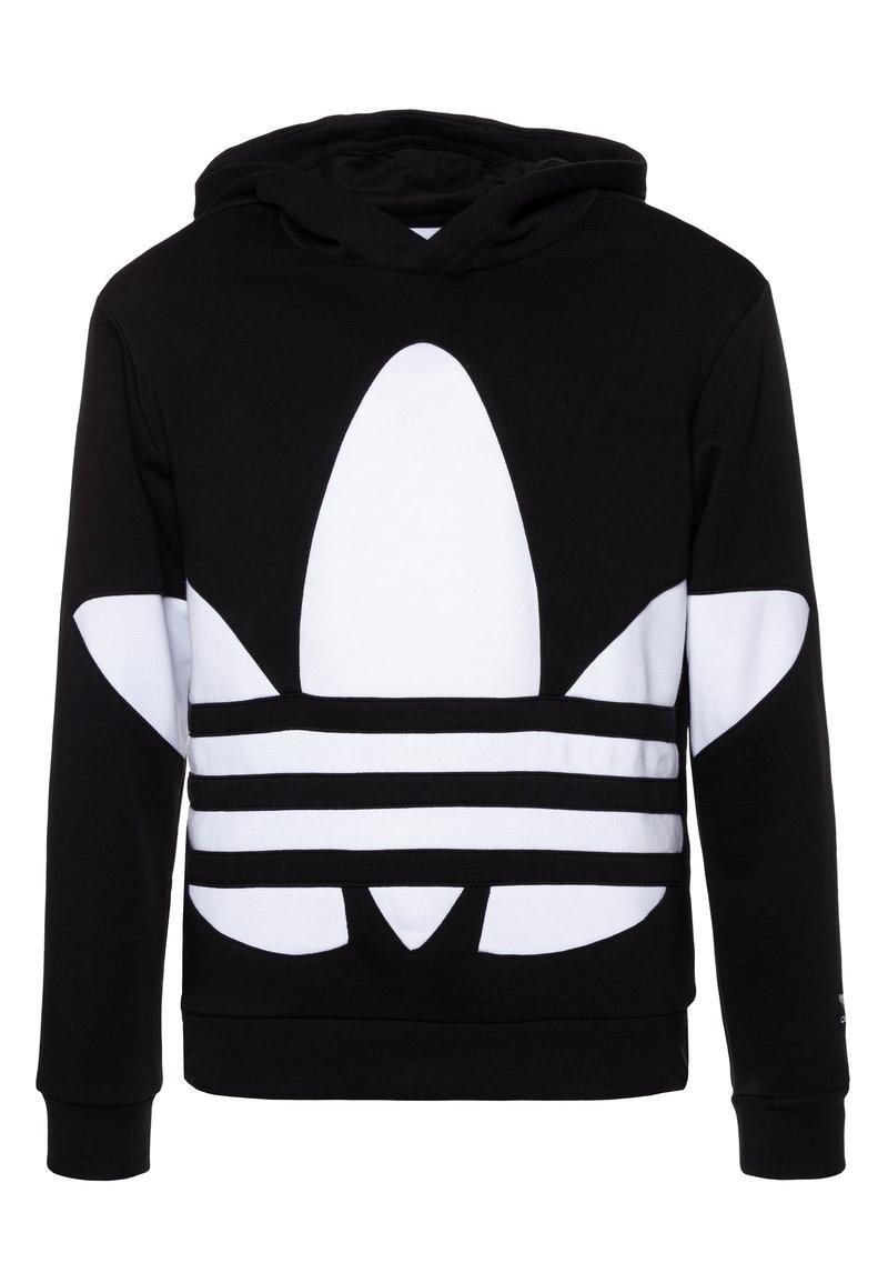adidas Originals - TREFOIL HOOD - Hoodie - black/white
