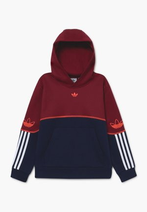 OUTLINE HOODIE - Bluza z kapturem - dark red